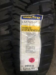 1 New LT 275 65 18 LRC 6 Ply Goodyear Wrangler MT/R with Kevlar Mud Tire