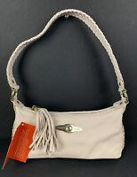 Elliott Lucca Leather Handbag Pale Pink Baguette Shoulder Bag Small Brand New