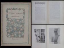 L'ART FRANCAIS MODERNE n°6 1918 GALERIES LAFAYETTE, TONY SELMERSHEIM, REMON