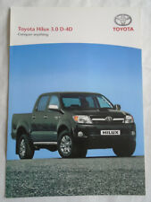 Toyota Hilux 3.0D-4D brochure Jul 2006 UK market