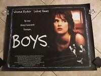 BOYS movie poster WINONA RYDER poster  (1995) original uk quad