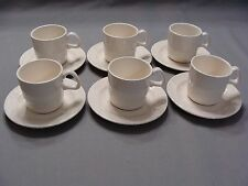 6 Vintage Speckled Cups & 6 Saucers With Raised Rings, Made In USA