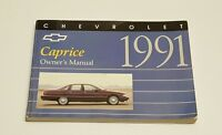 1991 CHEVROLET CAPRICE OWNERS MANUAL USER GUIDE BOOK V8 5.0L BASE CLASSIC SEDAN