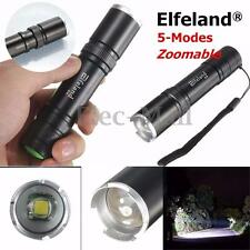 Elfeland Tactical 6000LM T6 LED Zoomable 18650 Flashlight Torch Lamp Light
