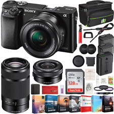 Sony Alpha a6000 Mirrorless Digital Camera Kit 16-50mm & 55-210mm 2 Lens Bundle