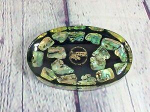 "Vintage Acrylic Change Soap Dish Southward Car Museum New Zealand - 6"" x 3.75"""