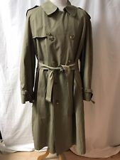 VTG BROOKS BROTHERS Men's Beige Removable Wool Lined Trench Rain Coat - 46 Tall