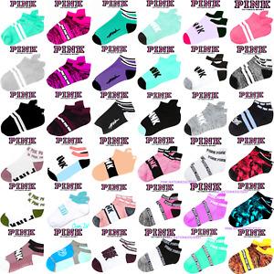 Victoria's Secret PINK ULTIMATE No Show Ankle Socks *1 + Bonus! New Prints $14