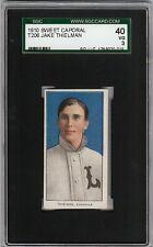 1909-11 T206 Jake Thielman Sweet Caporal 350 Louisville ML SGC 40 / 3 VG