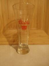 """Coors Banquet Beer 7"""" Tall Pilsner Glass"""