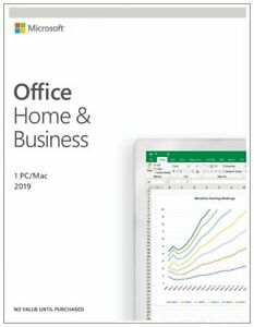 Microsoft Office Home And Business 2019, 1 Device, PC/MAC - 1 User Key Card