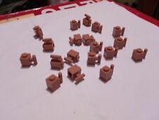 LEGO  DARK FLESH 1x1 Bricks w/ Handle X 19 2921 CITY SPARE PARTS CREATOR
