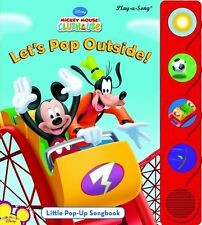 Mickey Mouse Clubhouse: Let's Pop Out : Little Pop-Up Songbook Board Book -Sound