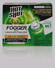 Hot Shot FOGGER 3 Cans Multi Insect Killer INDOOR Roach Ant Spider Bugs Flies