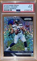 Pop 1!💎Russell Wilson 2018 PANINI PRIZM WHITE SPARKLE /20 REFRACTOR PSA 10 BGS