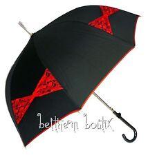 Goth : Parapluie Cloche & Canne NOIR Noeud en Dentelle Manga Lolita Gothique