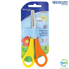 1 Pair LEFT HANDED Children's Scissors SAFETY School Children Kids WESTCOTT NEW