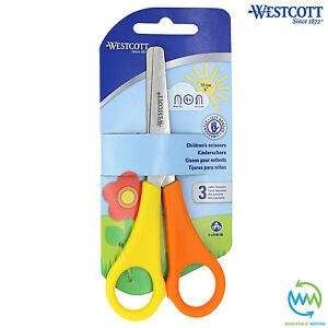 1 Pair LEFT HANDED Children's Scissors SAFETY School Children Kids WESTCOTT NEW