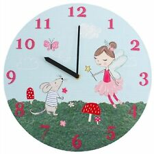 Childrens Fairy & Mouse Picture Wall Clock - Forest Fairies Range - NEW 34cm