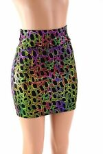 LARGE Poisonous Frog Print Bodycon Spandex Mini Skirt Rave Ready To Ship!