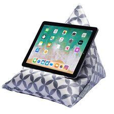 iPad Tablet Phone Bean Bag Cushion Pillow Stand Luxurious Velvet Grey Bahia