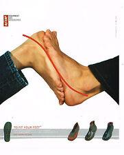 PUBLICITE ADVERTISING 075  2001  LEVI'S accessoires &  équipement  chaussures