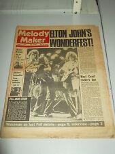MELODY MAKER 1975 APRIL 5 ELTON JOHN 10CC RICK WAKEMAN HUNTER RONSON