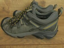 KEEN Targhee II Gray Leather Mens Hiking Shoes Boots Size 9