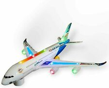 Kids Airbus With Flashing Lights And Sound Toy Airplane Kids Colorful Bump & Go