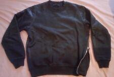 Diesel BLACK GOLD - Faux Leather Jumper Sweat Shirt - Zip Side - Medium 38 - 40