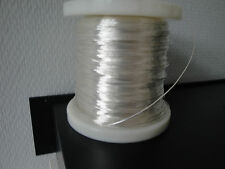 0.03mm²  Silver Plated Black Teflon PTFE Wire USSR MC-1 20m 66 ft 32 AWG