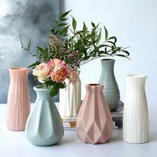 Nordic Style Plastic Vase Ceramic Flower Pot Flower Basket Flower Vase Desktop