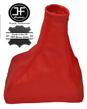 RED REAL LEATHER MANUAL GEAR STICK GAITER FITS JAGUAR X-TYPE 2001-2009