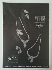 1950 Coro Craft white fire jewel box rhinestone necklace vintage jewelry ad