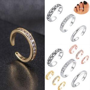 Fashion Celebrity Jewelry Retro Silver Adjustable Open Toe Ring Finger Foot Set