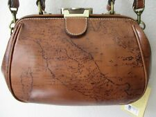 Patricia Nash Gracchi Map Print Leather Frame Satchel Purse - Nwt