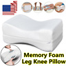 US Memory Foam Leg Pillow Orthopaedic Firm Back Hips Knee Support Cushion White