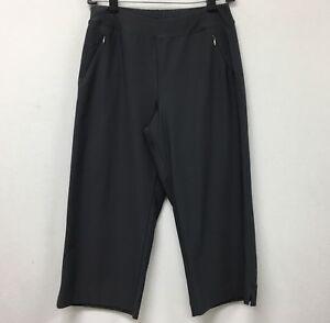 Lucy Women's Pants Small Gray Yoga Workout Activewear Capri