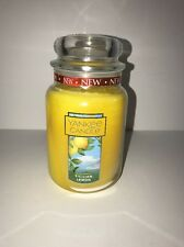 "YANKEE CANDLE ""SICILIAN LEMON"" Large Single-Wick Jar Candle Yellow 22 oz. NWT"