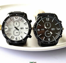 1Pcs QF Korea style Fashion Unisex women men dial silicone wrist watch Quartz 07