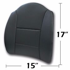 """BIG SIZE 15"""" X17"""" S.LEATHER LUMBAR SUPPORT BACK CUSHION ALL PURPOSE CHARCOAL"""