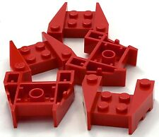 Lego 5 New Red Wedge 3 x 4 Stud Notches Pieces