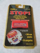STOP 1998 Tiger Electronic Word Game Expansion Cartridge 3 New Sealed