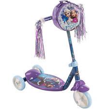 Disney FROZEN Girls KICK SCOOTER Kids Inline Ride-On 3-Wheel Huffy Anna+Elsa Bag