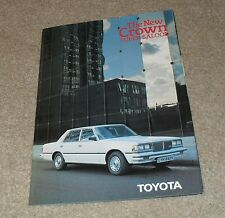 Toyota Crown Super Saloon Brochure 1980-1981 UK Market