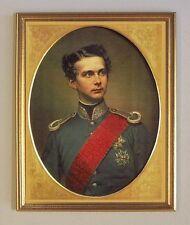 König Ludwig II. Bavarica Bayern Wilhelm Tauber Chiemsee 07 Portrait Gerahmt