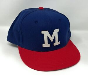 Milwaukee Braves Mitchell & Ness Cooperstown Collection Fitted Cap Hat -  7-3/4