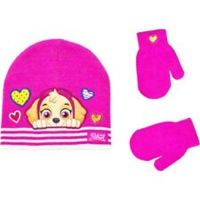 NEW Girls Toddler 2T-5T Nickelodeon PAW Patrol Hat and Mittens Skye