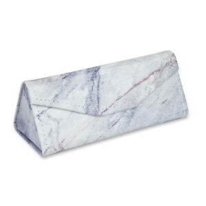 TaylorHe Foldable Compact Glasses Case PVC Wipe Clean Beautiful Marble Effect