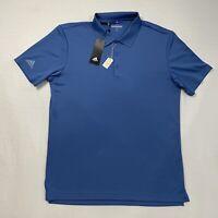 New Adidas Golf Men's M Blue Short Sleeve 1/4 Button Polo Shirt Spring Summer